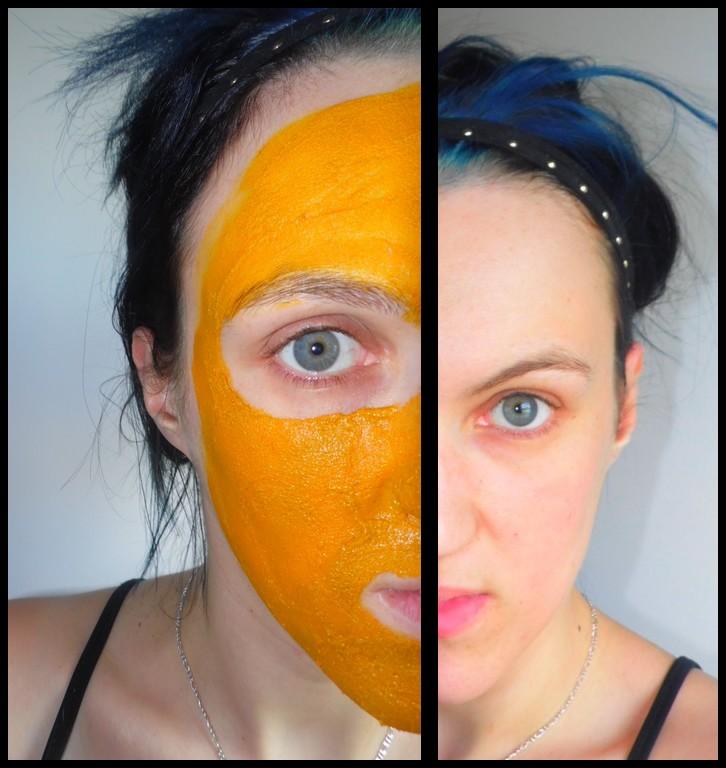 Le masque pour la personne le gruau davoine la pomme le lait